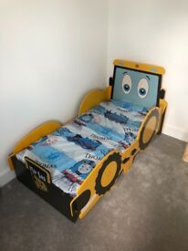 JCB single and toddler bed
