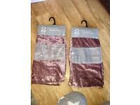 4 crushed velvet diamanté cushion covers BNWT