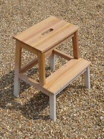 IKEA Bekvam - Solid Birch Wood Step Stool - 50 cm H