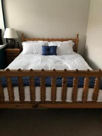 South African Pine Bedroom Set. Excellent Condition.