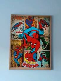 Large Spider-Man & iron man canvas picture