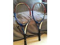 2 x Wilson tour 95 blx tennis rackets