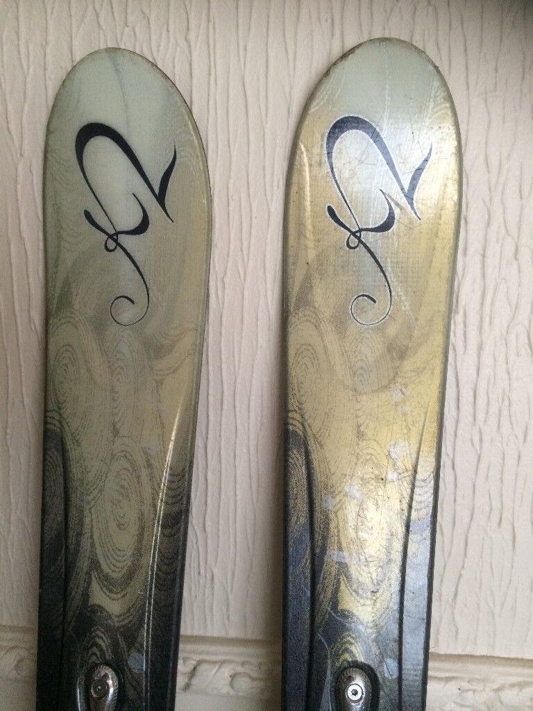 K2 skis 167cm long with Marker Mod 11.0 bindings