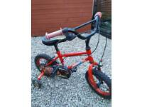 Childs car bike with stablerisers £20