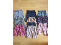 Eleven pairs of girls age 3-4 leggings