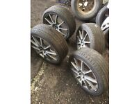17 Wolfrace alloys and tyres