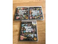 *SOLD**COLLECTED* Grand Theft Auto x3 PS3 Games