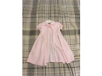 Baby gymp pink check dress
