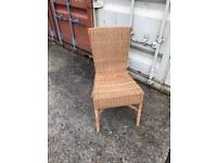 Wicker chair dining office or dressing table desk