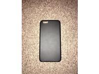 iPhone 6S Plus Black Leather Case