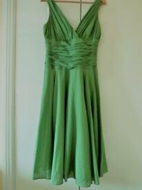 Silk/cotton Monsoon summer evening dress. Size 14. Fully-lined. Very Marilyn Monroe!