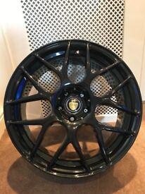 "18"" Cades bern Accents powder coated black gloss"