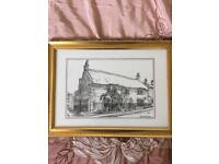 Framed prints of beautiful village Hinton st George