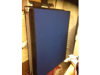 office wall partition divider screen grey blue 160cm X 110cm room with NEW legs