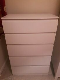 Ikea white chest of drawers