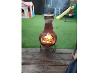 Clay, patio, garden chimney