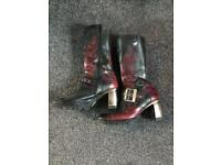 New Rock Ladies Motorcycle Boots Size 5