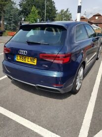 Beautiful Deep Blue Audi A3 S Line, excellent condition, one owner