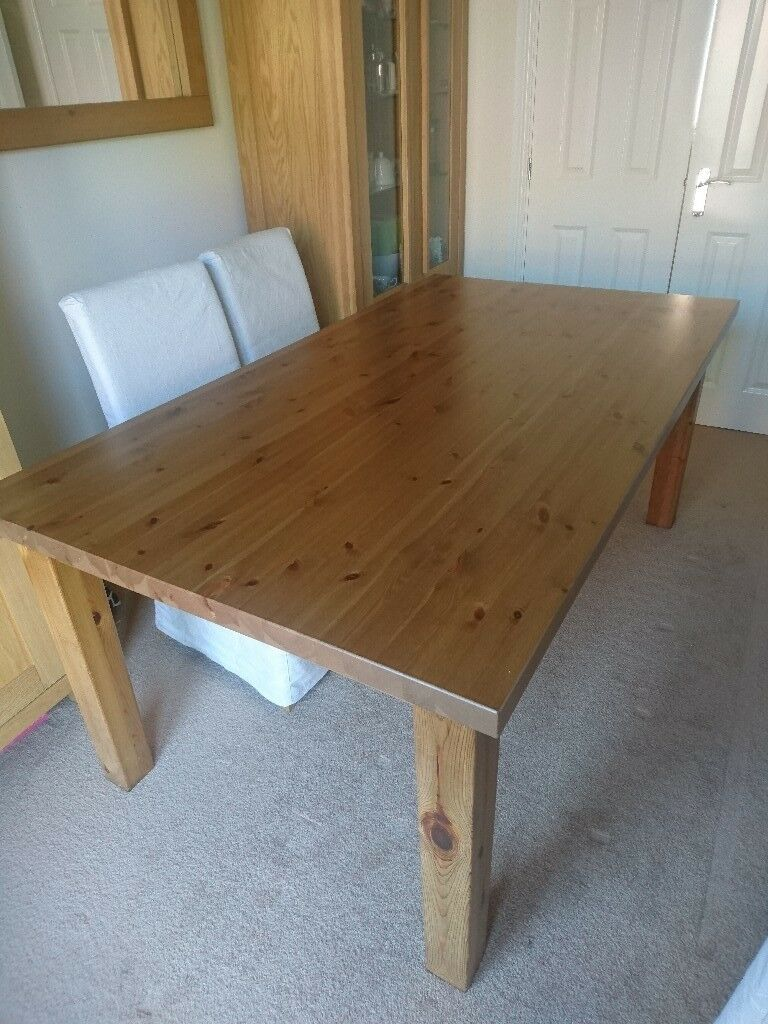 Reduced Ikea Forsby Pine Dining Table And 4 Henriksdal