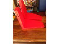 Ikea red shelf