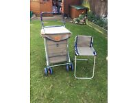 Original Sholley Shopping Trolley with matching seat