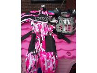 Girls motorcross suit and armor