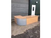 Beech reception desk – 2.4m x 1.6m