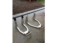 ALLOY FRONT AND REAR PADDOCK STAND