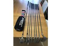 Half set of ladies golf clubs, golf bag, golf balls
