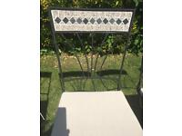 Patio chairs mosaic tile pattern