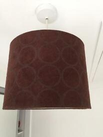 Brown lampshade 25 cm diameter