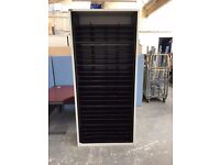7 Ft TRIUMPH TAMBOUR CABINET WITH 96 PIGEON HOLES, STORAGE, STATIONERY