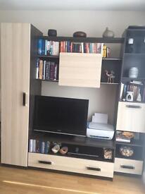 Set of: Cabinets + TV table + book shelves + wardrobe