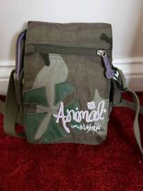 Animal camo shoulder bag as new