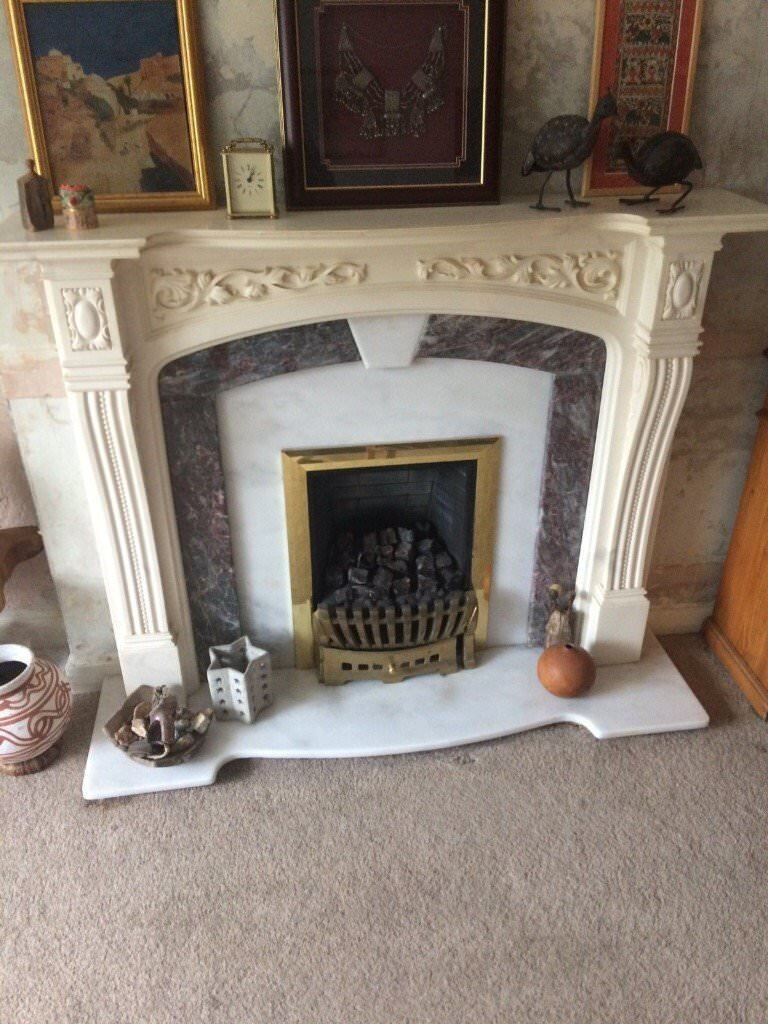 Very Ornate Heavy Marble Fire Surround