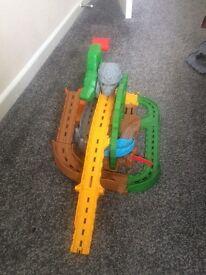 Take an play Thomas the tank engine. track