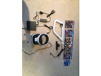 VR playstation headset/5 x games/gun controller/camera