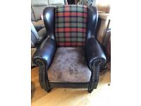 New/ex-display** Stunning Wingback armchair BARGAIN
