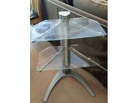 Tv Rack 2 tempered transparente glass shelf