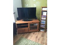 TV cabinet and DVD shelf - Wooden