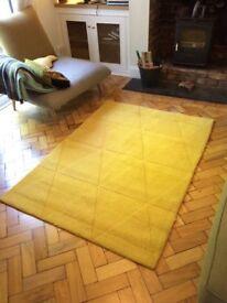 Italian designer yellow rug