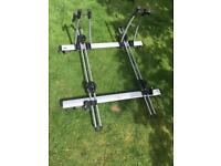 Thule 757 Roof bars with free ride 532 bike carriers