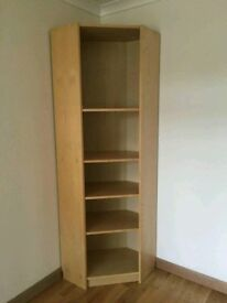 Ikea Billy corner bookcase.