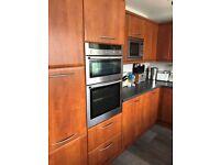 Fitted kitchen units, fridge, freezer, hob, oven, sink, dishwasher