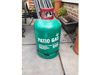13kg Gas bottle for bbq /patio heater plus regulator - full bottle