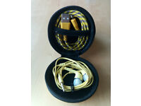 Hard Storage Case With Headset & Lightning Cable Yellow
