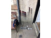 Golf clubs and stand bag