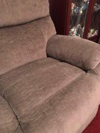 2 seater sofa and electric recliner armchair