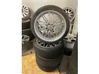 "17"" multi fit alloys & tyres"