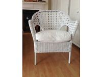 PAIR OF CANE CONSERVATORY CHAIRS WITH SEAT PADS (IKEA)